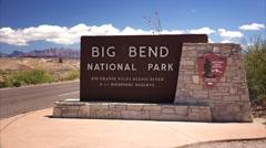 Big Bend National Park Entrance Sign Stock Footage