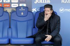 Diego Simeone manager of Atletico Madrid Stock Photos