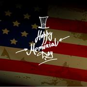 Happy Memorial Day - stock illustration