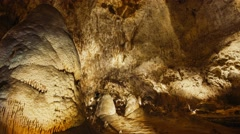 Big Room in Carlsbad Caverns National Park - Time Lapse - stock footage