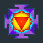 colored Tara yantra illustration. - stock illustration