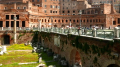 Ancient landmarks in Rome Stock Footage