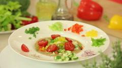 Salsa vegetable mix - stock footage