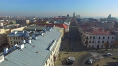 Lublin, Poland. Aerial footage. 04 Stock Footage