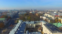 Lublin, Poland. Aerial footage. 06 Stock Footage