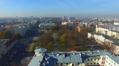 Lithuanian Square in Lublin //AERIAL FOOTAGE// 02 Stock Footage
