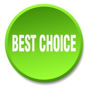best choice green round flat isolated push button - stock illustration