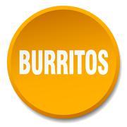 burritos orange round flat isolated push button - stock illustration