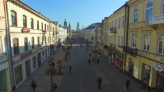 Lublin - Krakowskie Przedmiescie Stock Footage