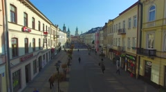 Old Town In Lublin, Poland. Aerial Footage. 03 Stock Footage