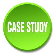 case study green round flat isolated push button - stock illustration