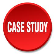 Stock Illustration of case study red round flat isolated push button