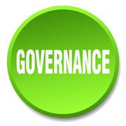 Stock Illustration of governance green round flat isolated push button