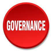Stock Illustration of governance red round flat isolated push button