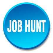 Job hunt blue round flat isolated push button Stock Illustration