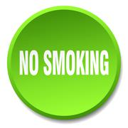 no smoking green round flat isolated push button - stock illustration