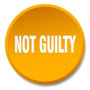 Not guilty orange round flat isolated push button Stock Illustration