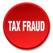 Tax fraud red round flat isolated push button Stock Illustration