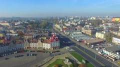Lublin, Poland. Aerial footage. 02 Stock Footage