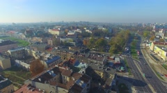 Lublin, Poland. Aerial footage. Stock Footage