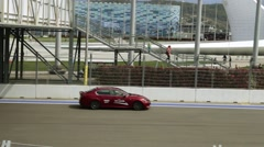 Test drive the car Lexus. Formula 1 track. - stock footage