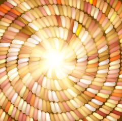 Sun and orange Colored Rope in spiral Stock Illustration