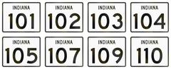 Collection of Indiana Route shields used in the United States Stock Illustration