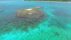 Circular flight over the edge of the shore on a tropical island. Stock Footage