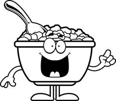 Cartoon Cereal Idea Stock Illustration