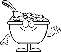 Cartoon Cereal Waving Stock Illustration