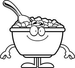 Happy Cartoon Cereal Stock Illustration