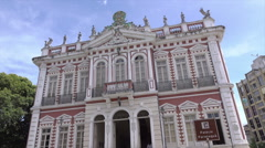 Tilt up to Ilheus town hall or palacio paranagua, Brazil Stock Footage