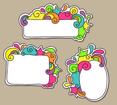 Funky frames - stock illustration