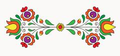 Hungarian folk motif Stock Illustration