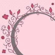 Cute girly frame Stock Illustration