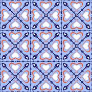 Seamless arabic pattern - stock illustration