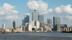 London Docklands and the River Thames - stock footage