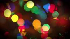 abstract christmas background with defocused lights - stock footage