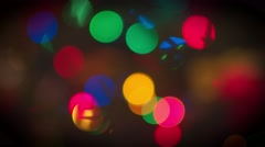 Abstract christmas background with defocused lights Stock Footage
