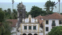San Francisco convent, Olinda, Recife, Brazil - stock footage