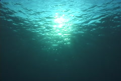 Ocean scenery calm seas, sunball, on water surface, UP9212 Stock Footage