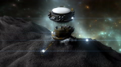 Artist render, fictional Space miner. - stock footage