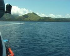 Seaplane taking off on calm seas, UP9864 Stock Footage
