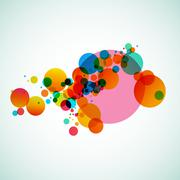 Colorful abstract background beautiful circles - stock illustration