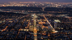 Los Angeles and Glendale Dawn Time Lapse with Zoom Out in Southern California Stock Footage