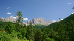 Beautiful landscape timelapse of Italian Dolomites mountains Stock Footage