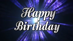 Happy Birthday Animation Text and Disco Dance Background, Zoom IN/OUT Rotation,  Stock Footage
