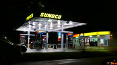 Sunoco gas station, mini market store Stock Footage