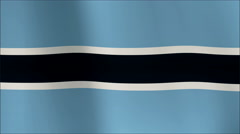A beautiful satin finish looping flag animation of Botswana.    A fully digital - stock footage