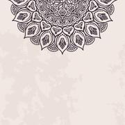 Elegant background with lace ornament - stock illustration